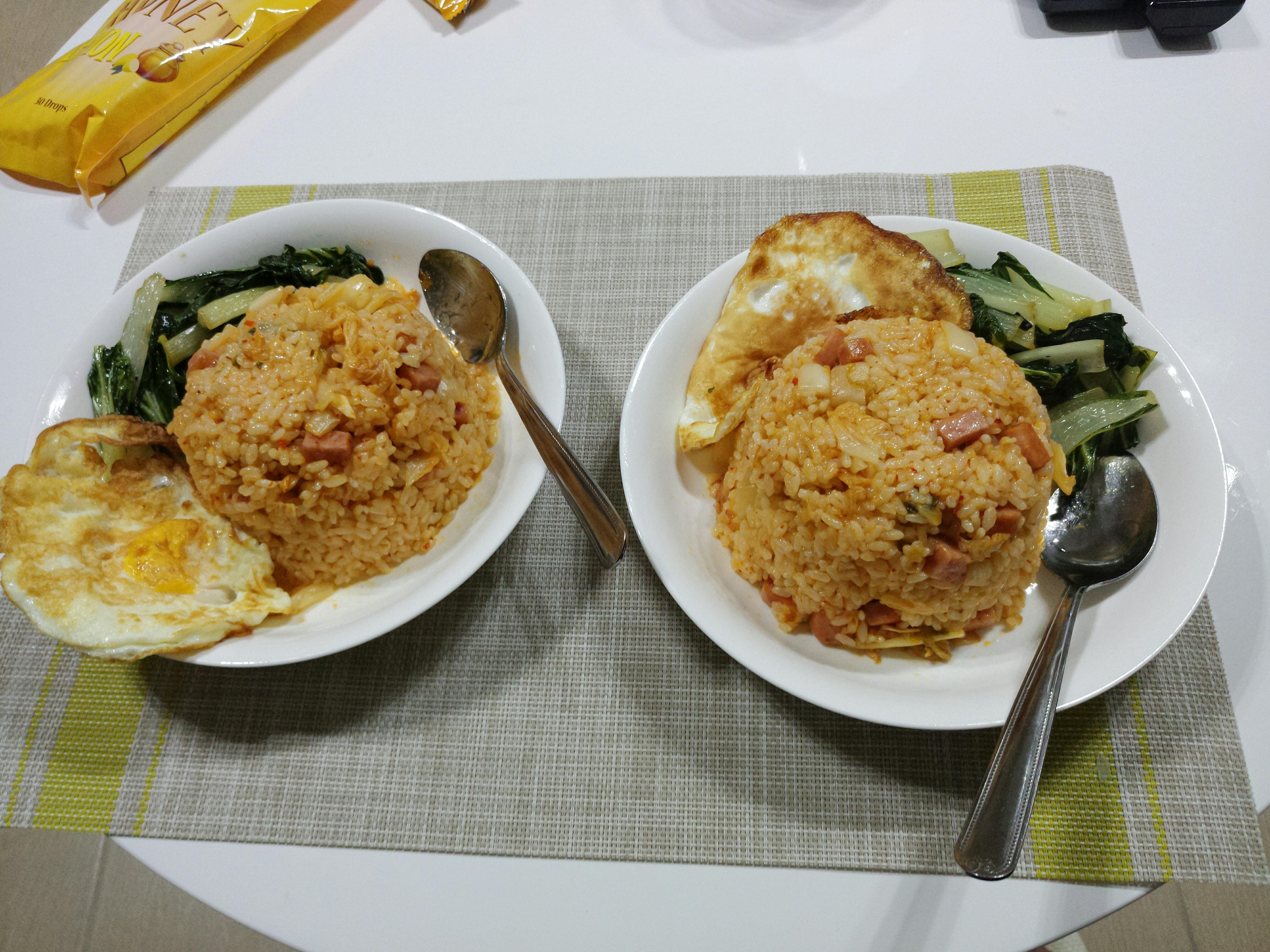 韓式泡菜火腿炒飯❤