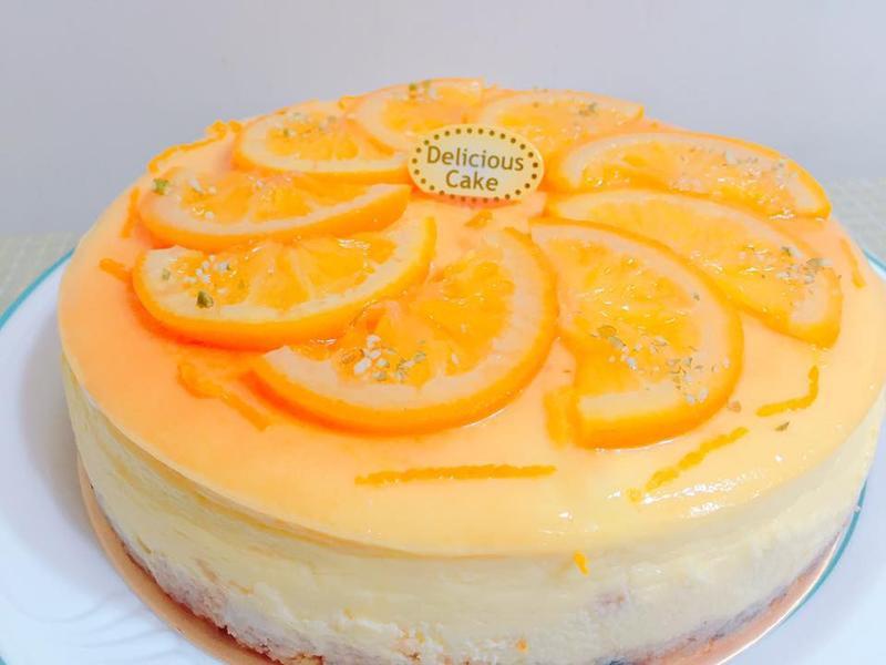 香橙重乳酪蛋糕(8吋)