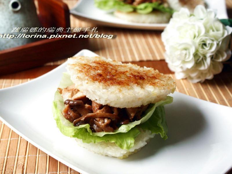 [好菇道菇idea]照燒菇菇米漢堡