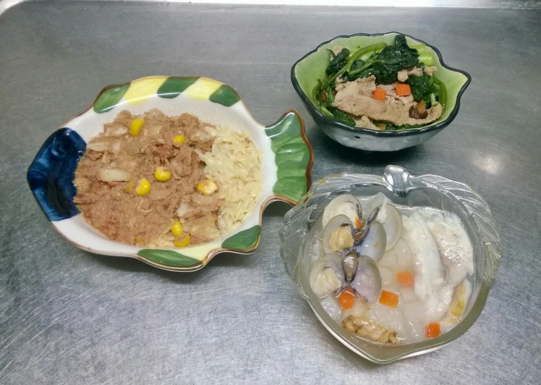 鮮食🐾茄汁肉醬麵 蒙古烤肉 結頭菜蜆湯