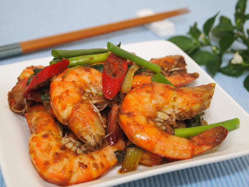【七夕幸福料理】沙茶蔥燒蝦