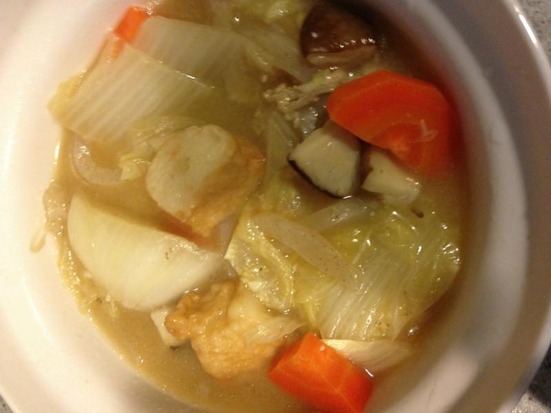 電鍋料理-味噌野菜燉豬肉
