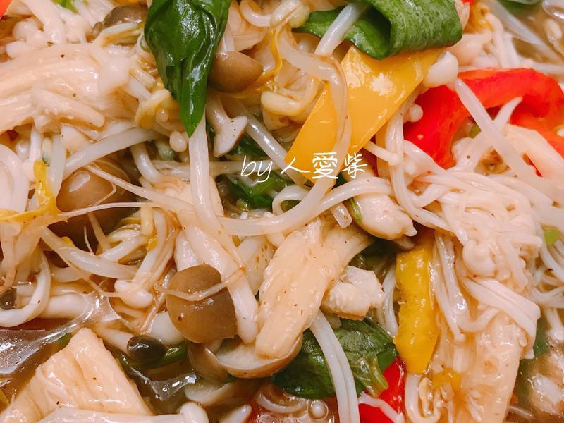 愛柴-五柳菇菇燴蔬菜