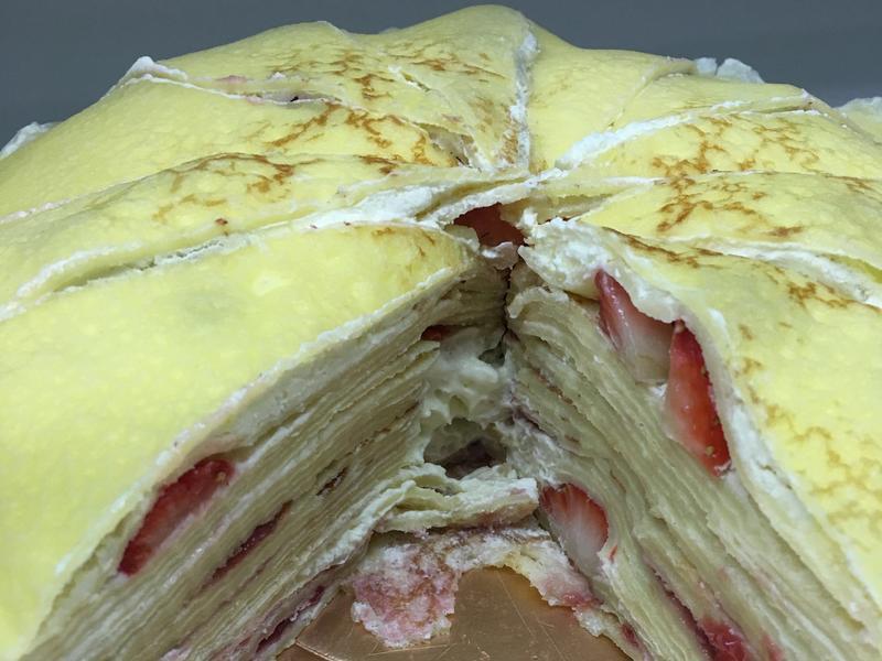 希臘優格草莓千層蛋糕