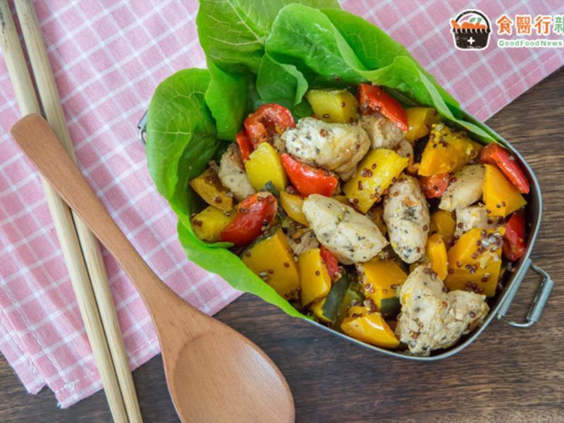 【低卡便當】營養師教你做!南瓜藜麥溫沙拉
