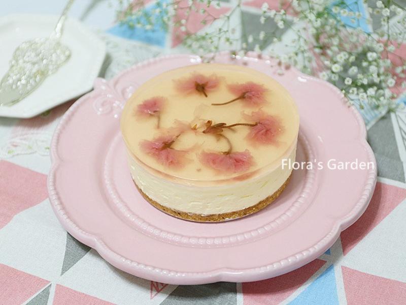 免烤~櫻花起司蛋糕~母親節冰涼涼蛋糕