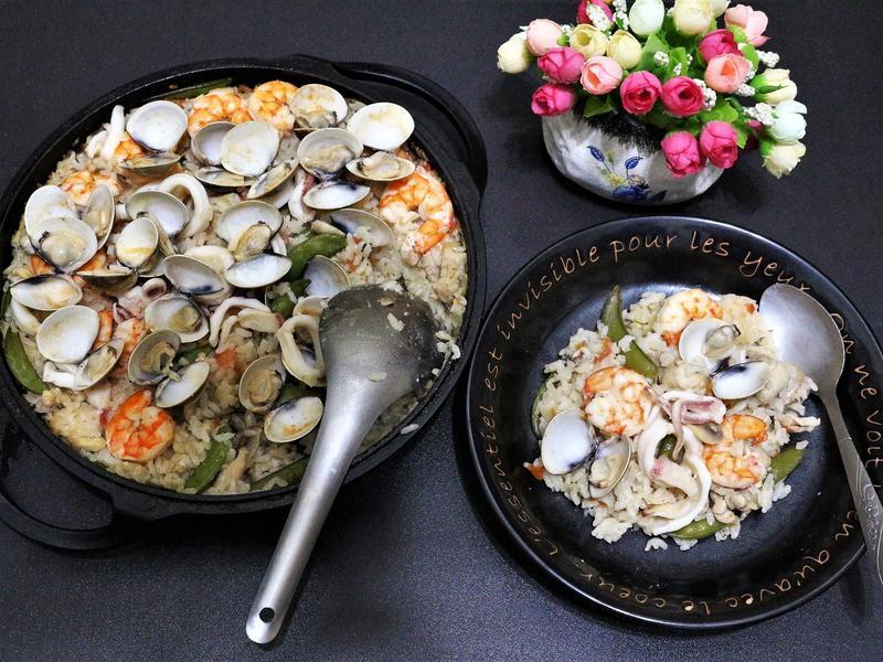 鑄鐵鍋料理:海鮮燉飯 & 自製海鮮高湯