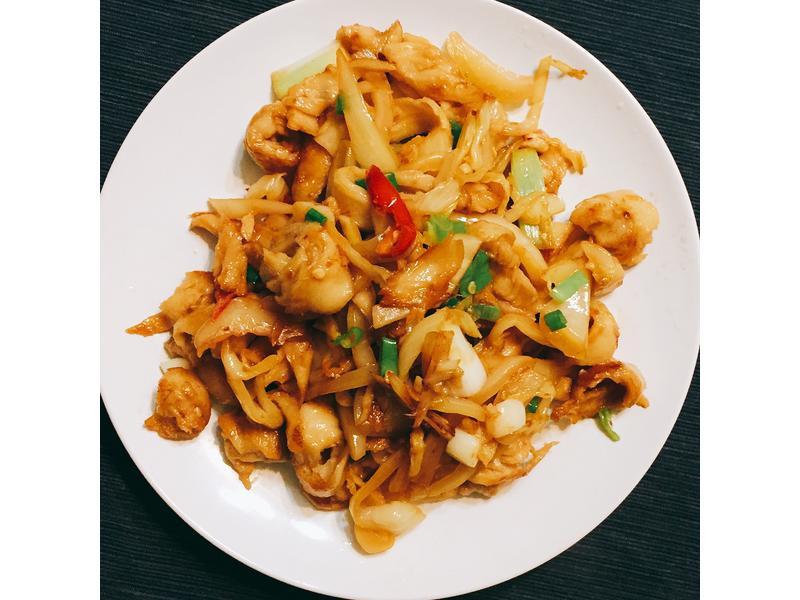 酸菜炒麵腸 簡單家常菜