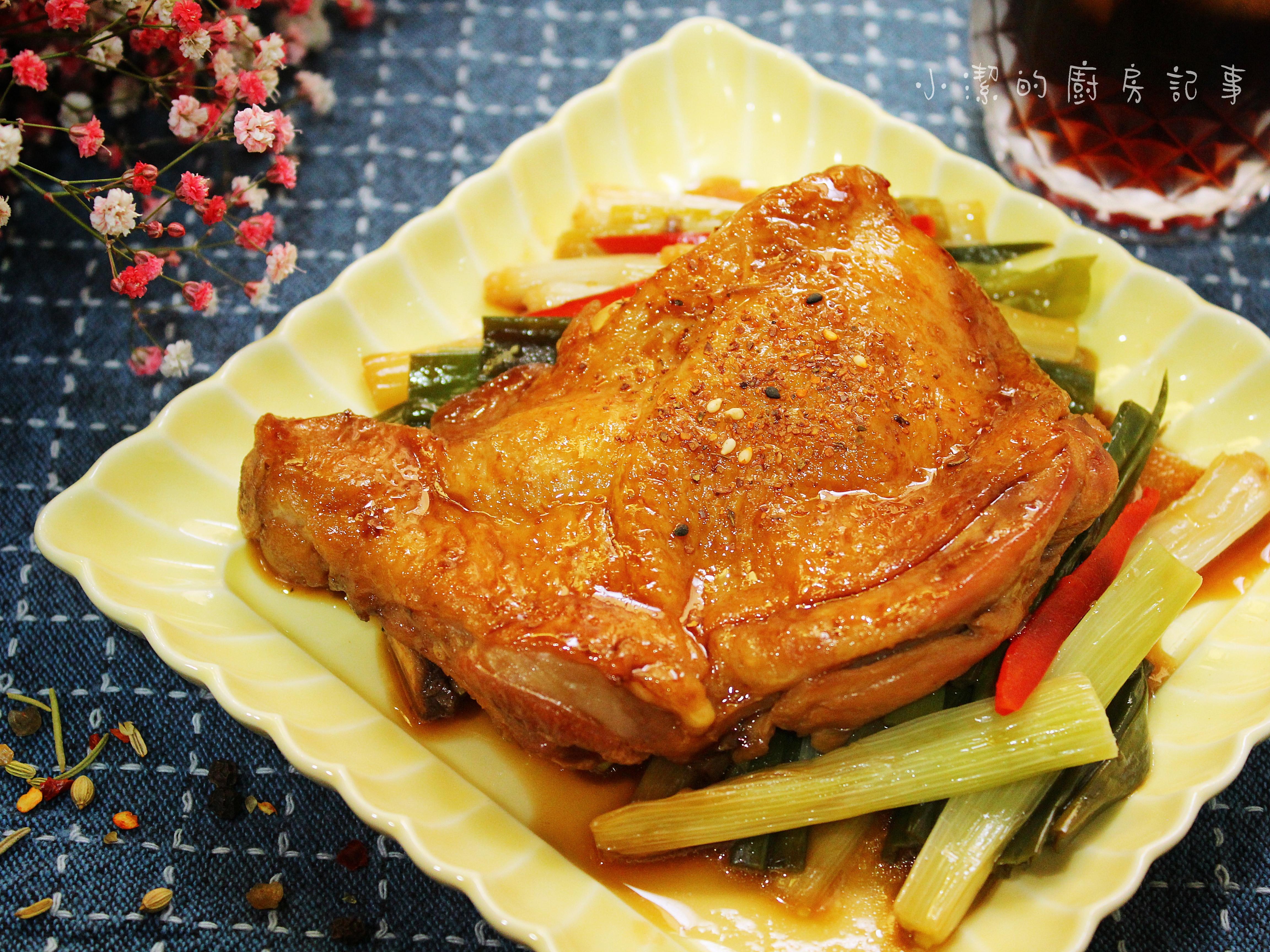 青蔥醬燒雞腿排