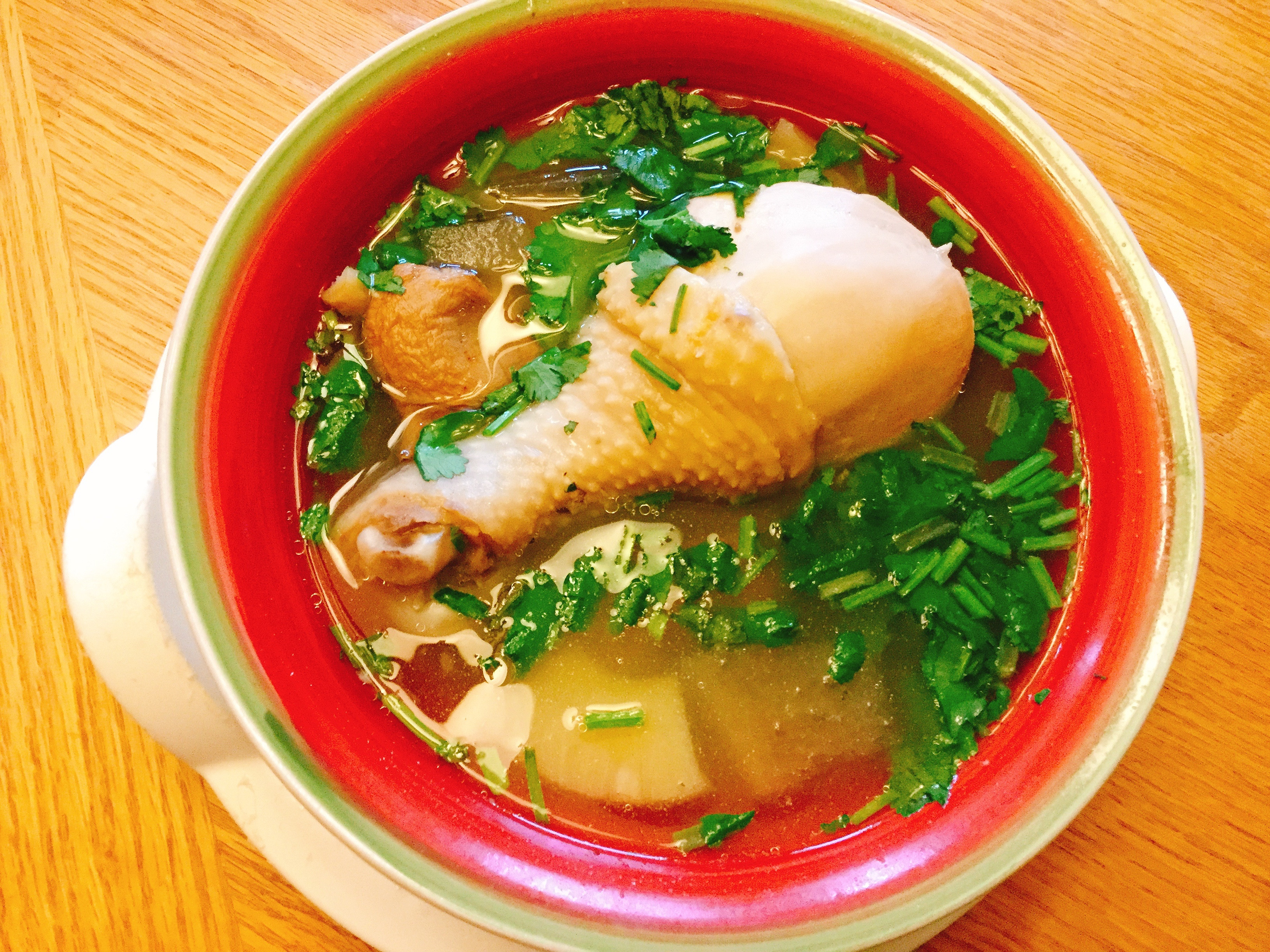 醃冬瓜鮑魚菇鳳梨雞湯