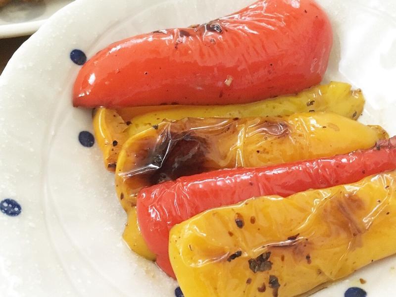 義式烤甜椒。超簡單!