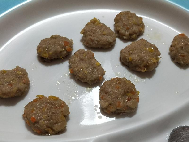 迷你豬肉漢堡排♡寶寶版