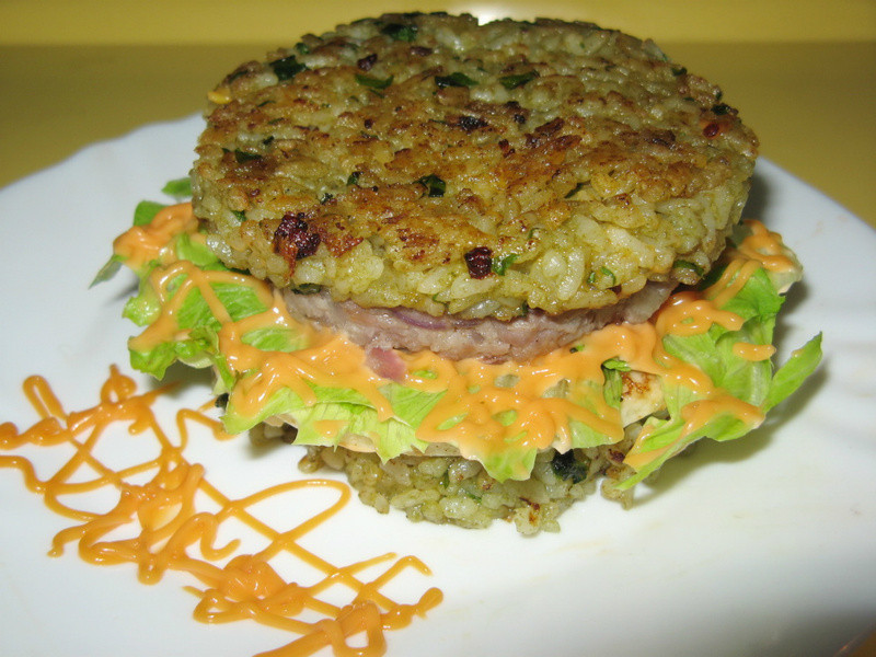 蔬菜泥米漢堡