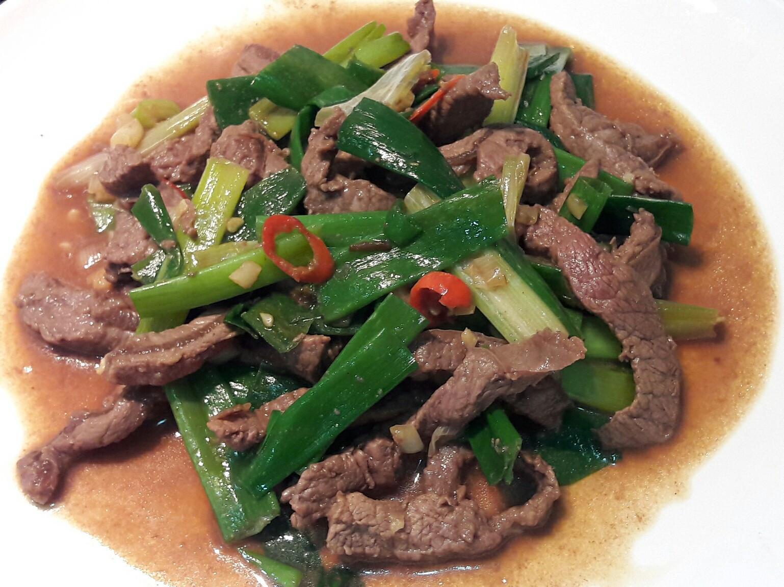 醬油蔥爆牛肉絲 熱炒100 家常下飯菜