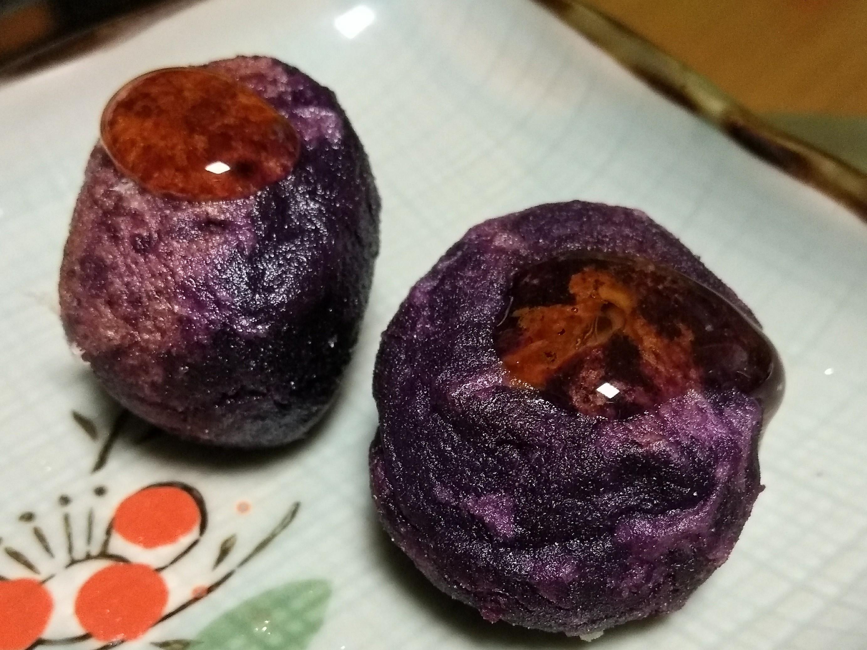 簡易紫地瓜爆漿起司球