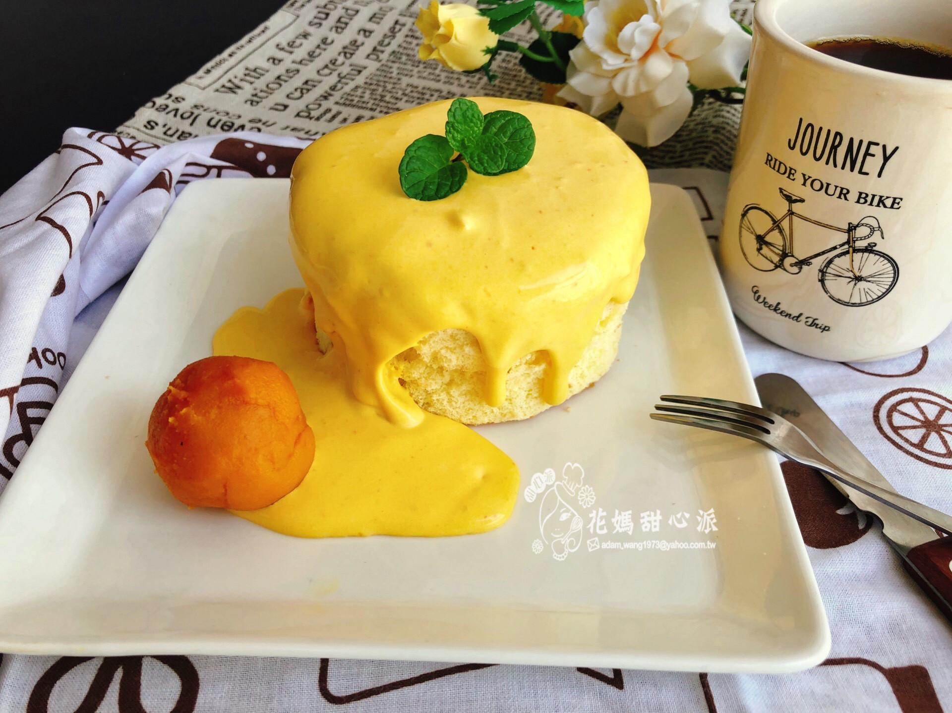 南瓜瀑布蛋糕(電鍋版)