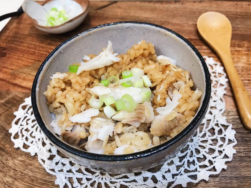 日式鯛魚菇菇炊飯~簡單又快速