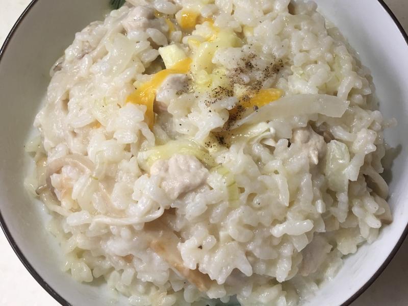 簡易雞肉杏包菇燉飯