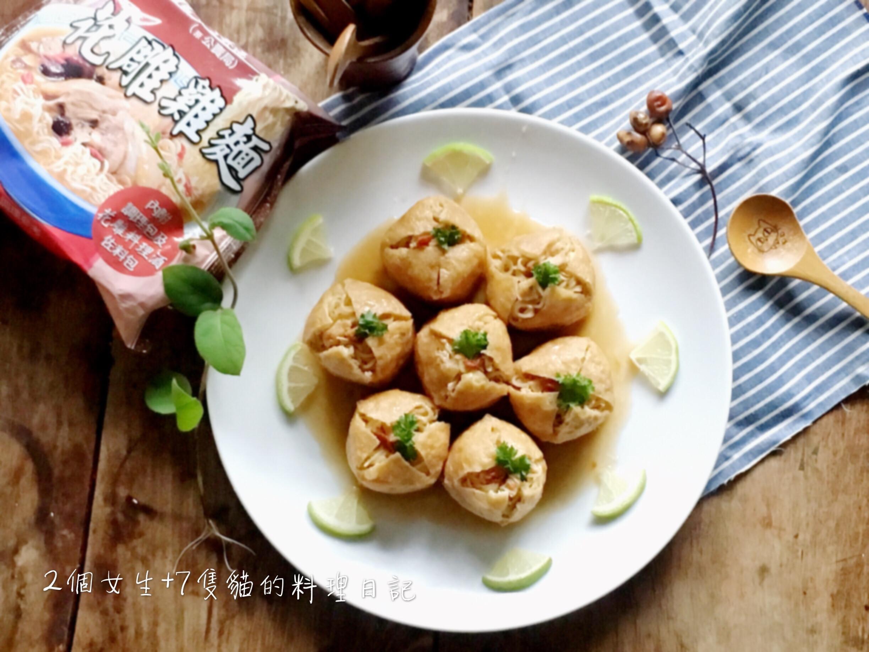 花雕雞麵鑲豆腐【意想不到酒香料理】