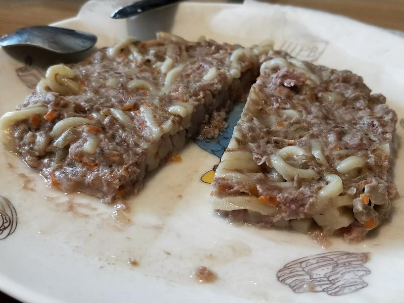 蒸麵條肉餅♡寶寶副食品