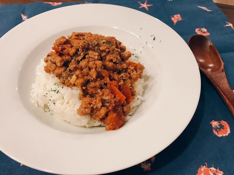 番茄肉醬蓋飯(無鹽巴味素版)
