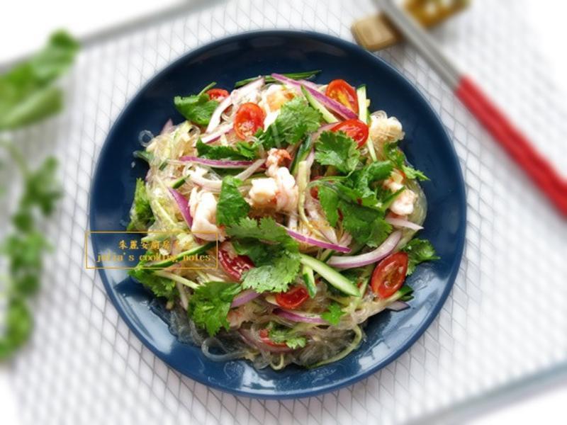[泰式涼拌海鮮冬粉]簡易涼拌菜