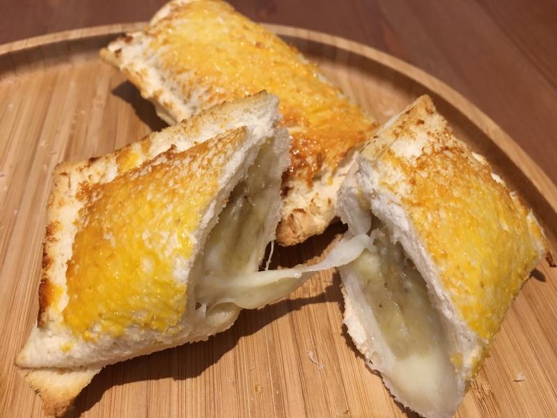 【寶寶食譜】香蕉起士吐司派