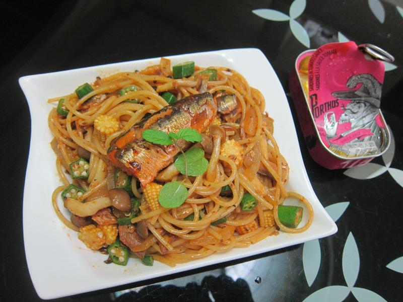 美味茄汁魚義大利麵