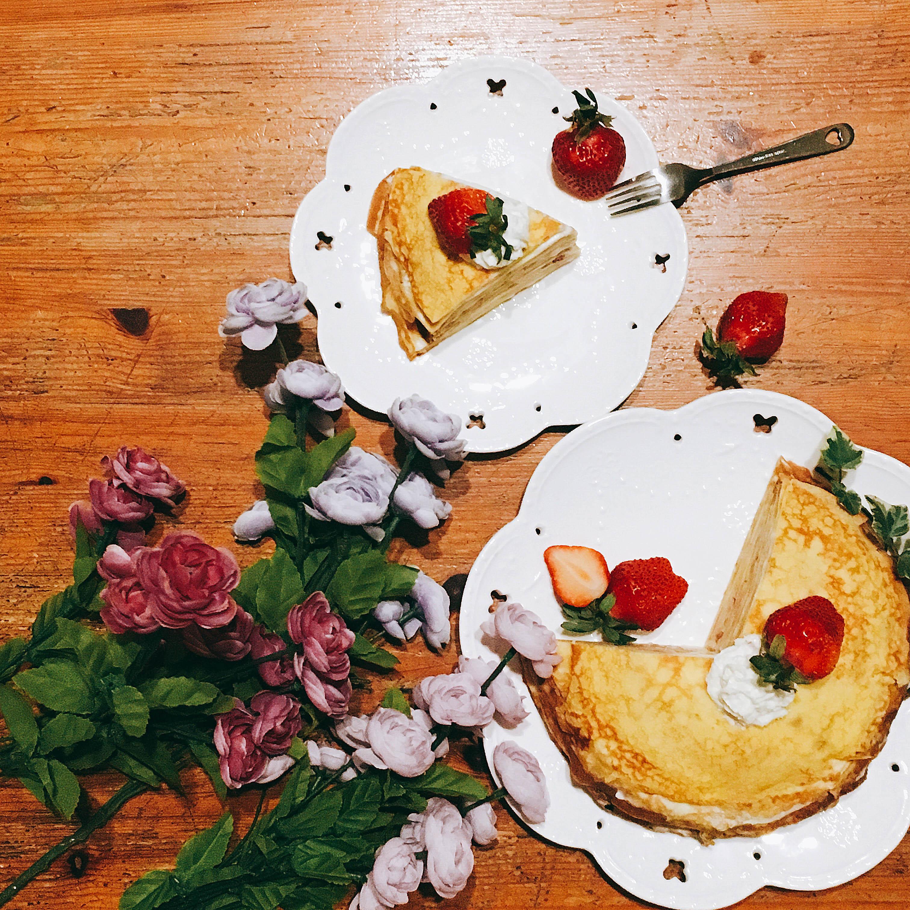 甜點-超簡單草莓千層派