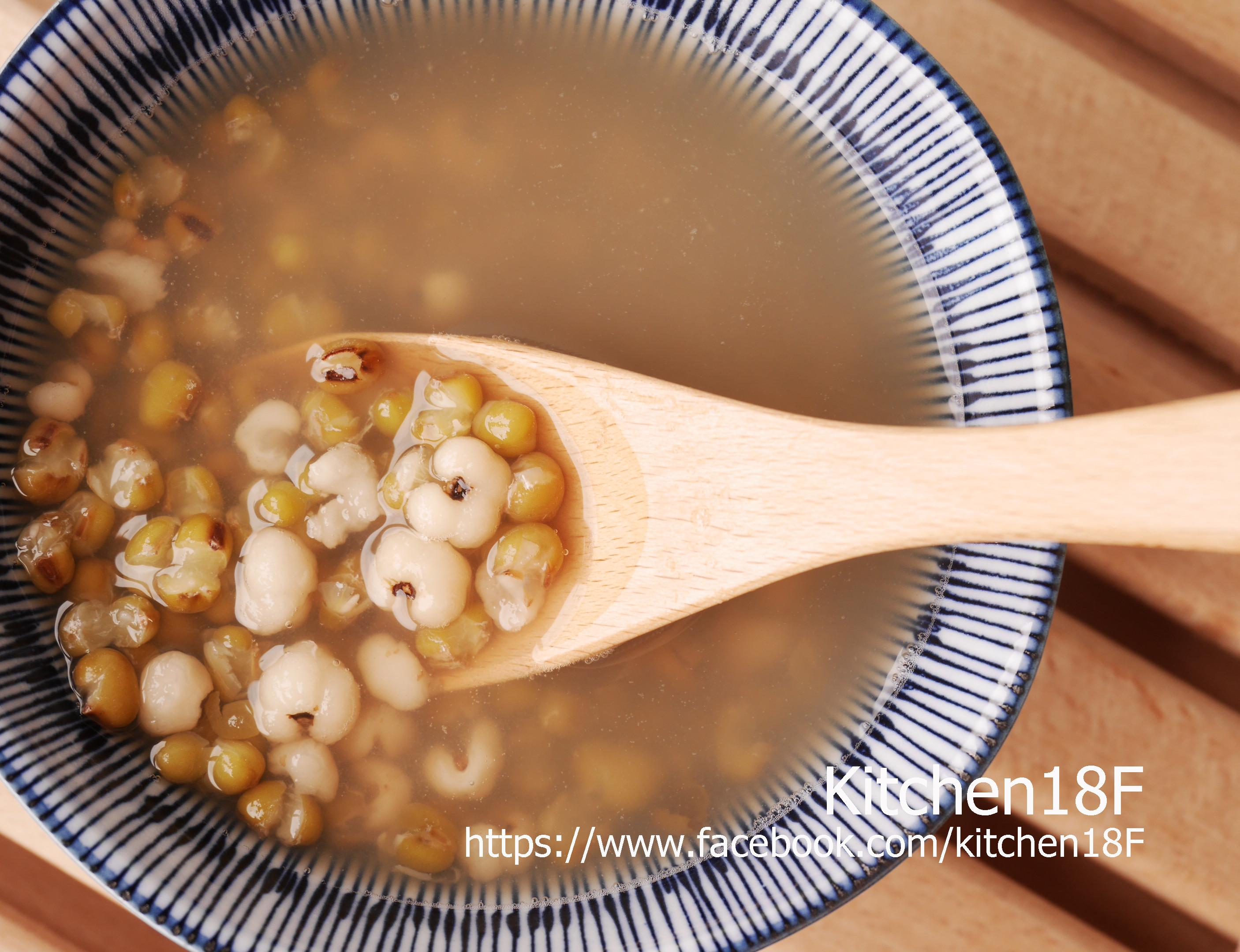 綠豆薏仁湯_電鍋甜湯