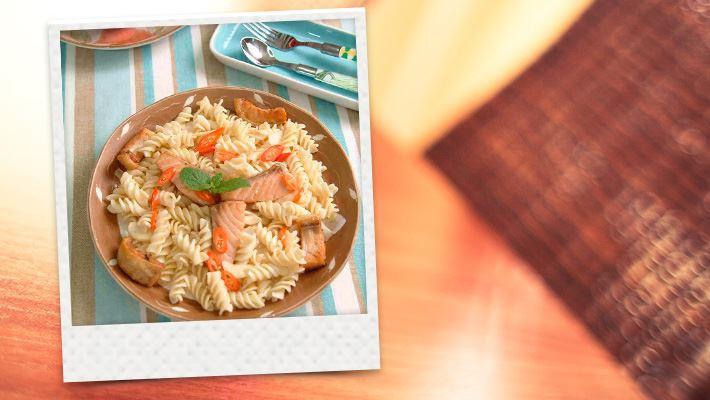 【腹膜透析】鮭魚義大利麵