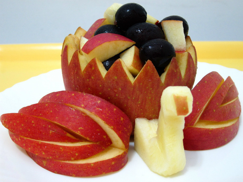 蘋果雕-天鵝(1)