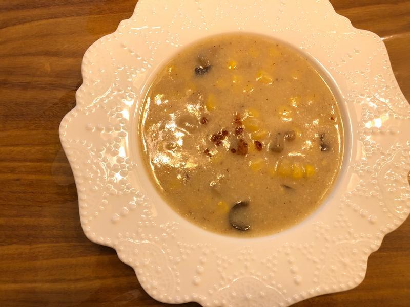 馬鈴薯草菇豆漿濃湯