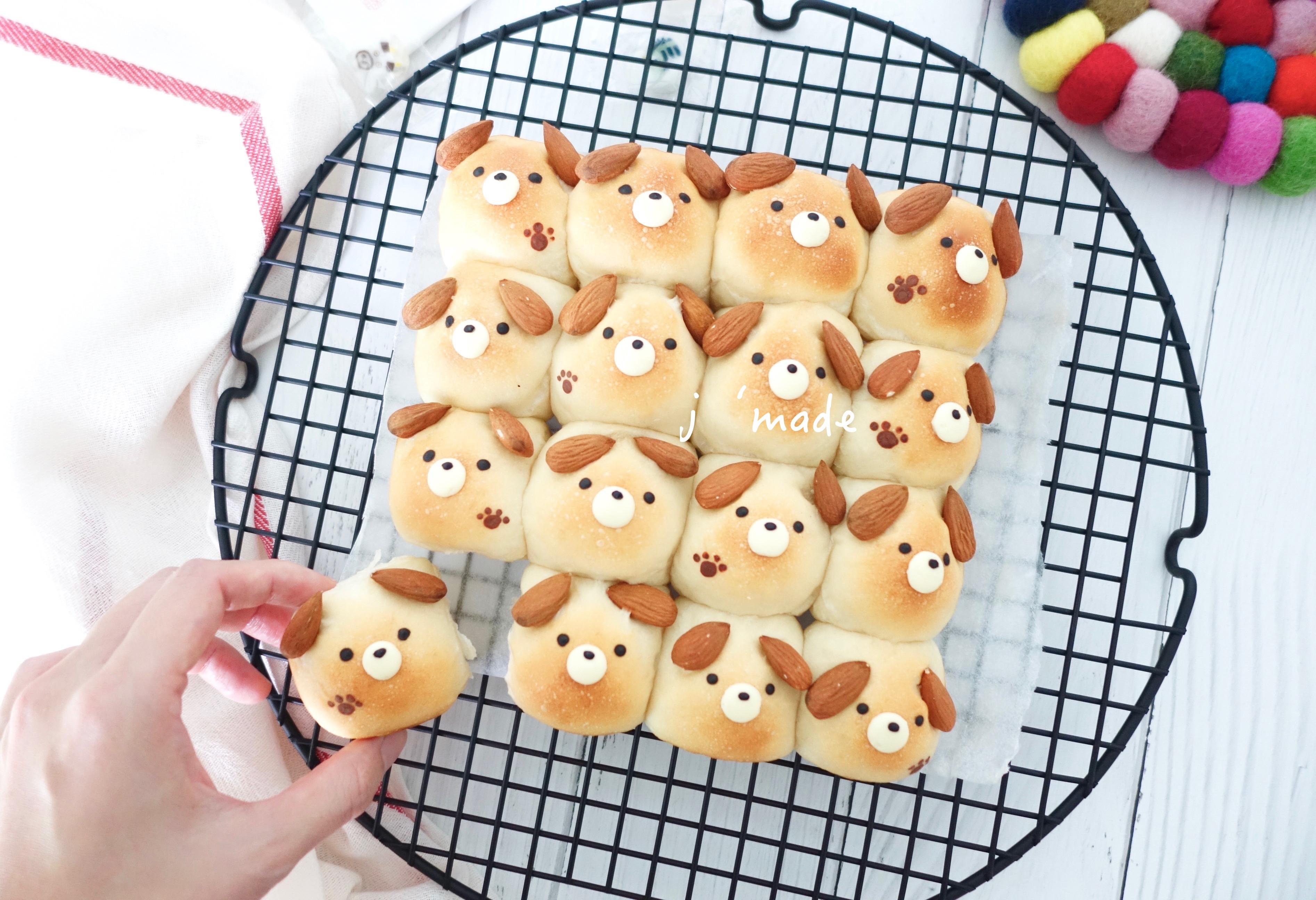 狗狗造型手撕麵包