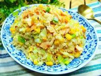 鮭魚蔬菜蛋炒飯【十分鐘上菜】