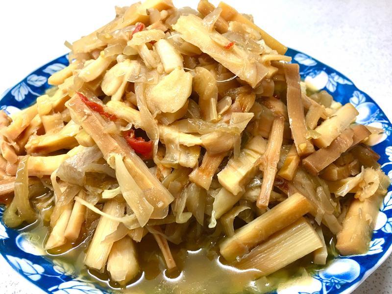桂竹筍辣炒酸菜