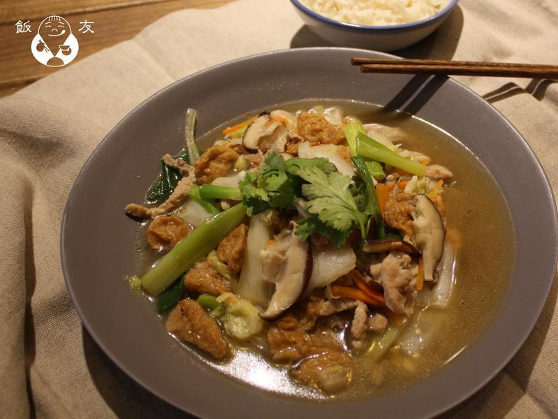 【飯友食品】古早味麵筋白菜滷