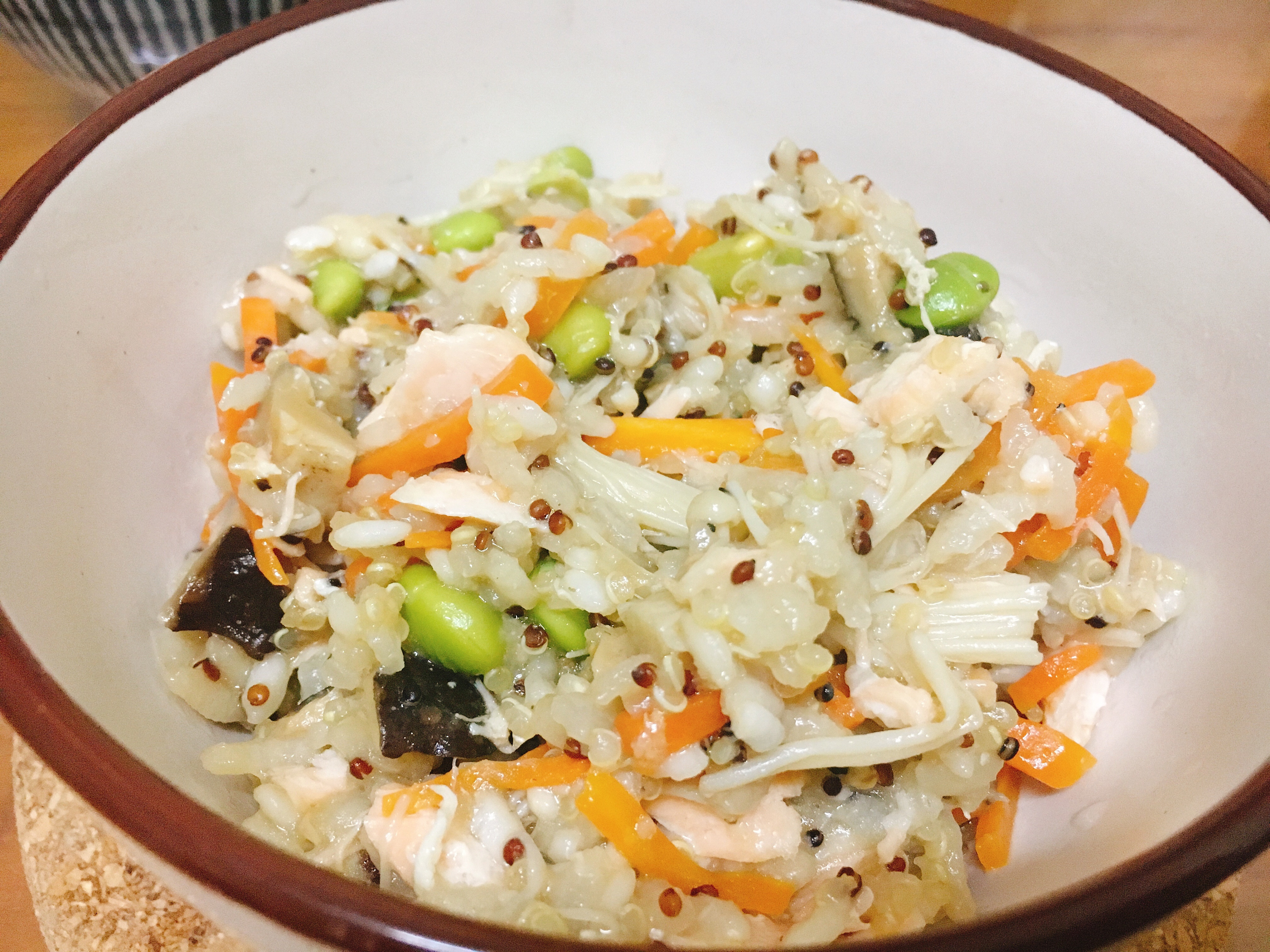 一鍋到底 毛豆鮭魚藜麥炊飯