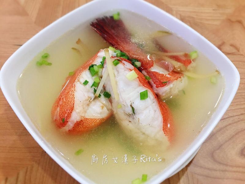 薑絲紅條魚湯