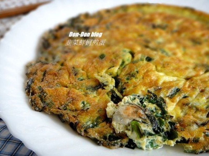 韭菜鮮蚵煎蛋
