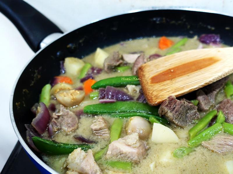電磁爐料理-綠咖哩四季豆