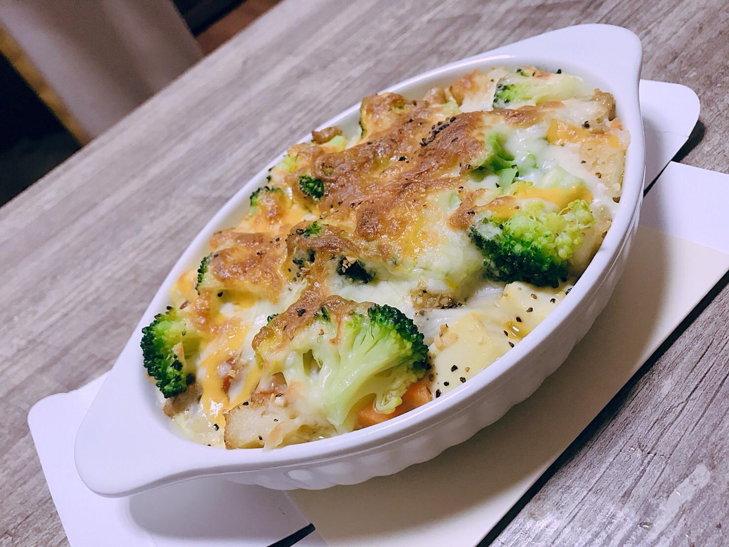 蔬菜雞胸焗烤薯餅/大寶寶的最愛