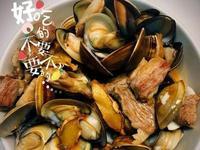 #手殘料理。麻油松阪蛤蜊