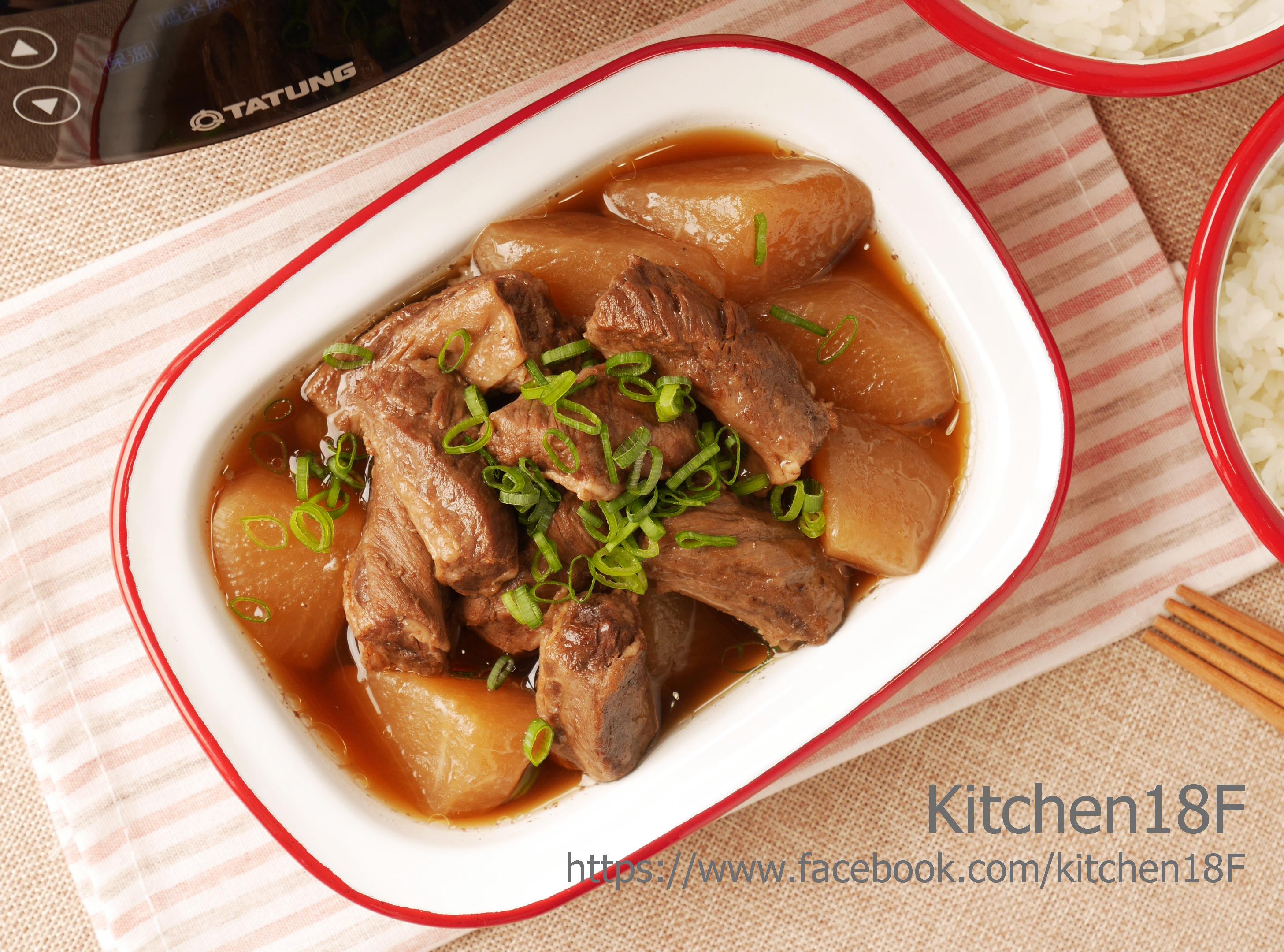 蘿蔔燉牛肉_電子鍋料理 零廚藝的美味