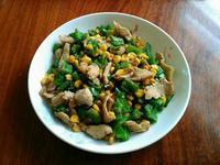 青椒玉米炒豬肉