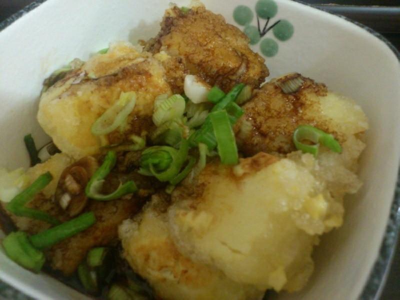 輕輕鬆鬆上桌囉。日式炸豆腐♥(便當料理)
