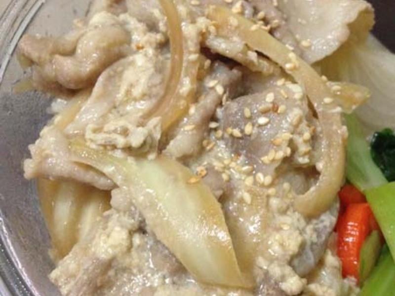 滑蛋豬肉片丼(電鍋料理)