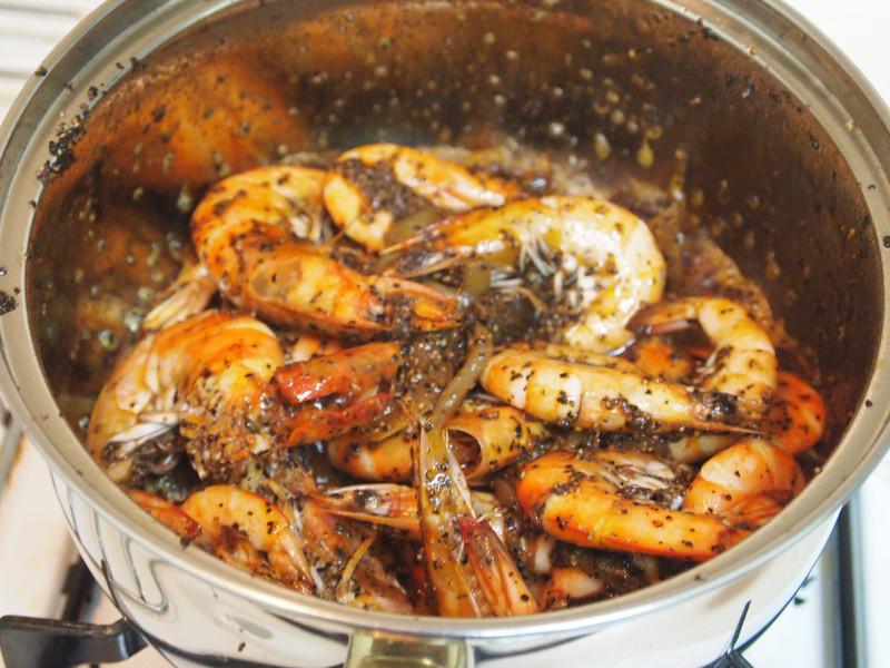 胡椒嗆白蝦