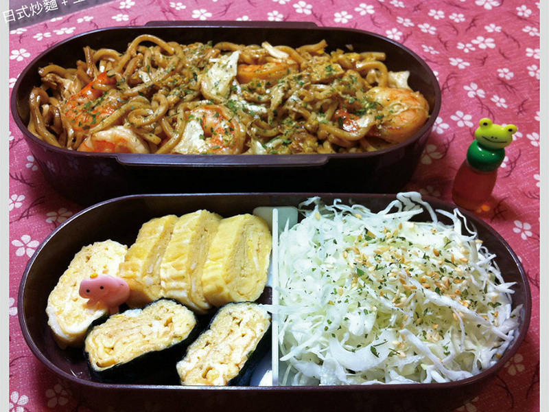 【深夜食堂版便當】炒麵+玉子燒