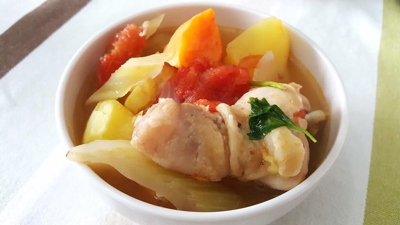 【阿公好料】番茄地瓜雞湯(酸甜好開胃)
